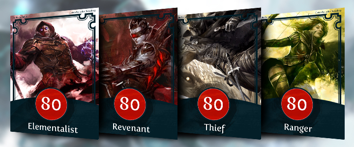 Guild Wars 2 Card Game Heroes of the Mists professions