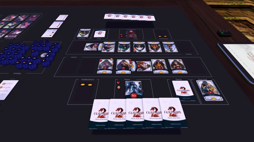 Guild Wars 2 tabletop simulator card game