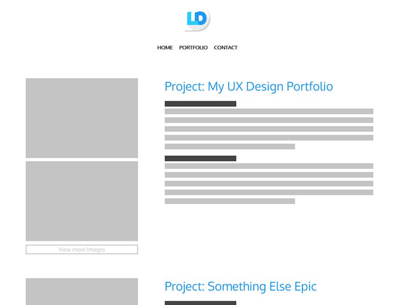 luke dowding portfolio wireframe