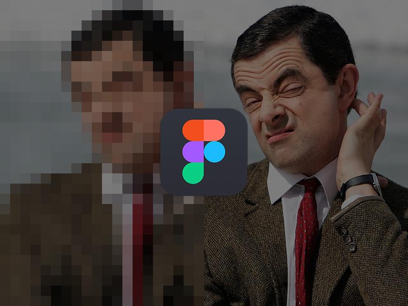 figma pixelated image
