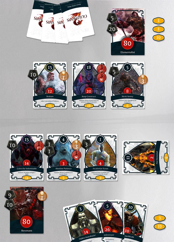 guild wars 2 card game board
