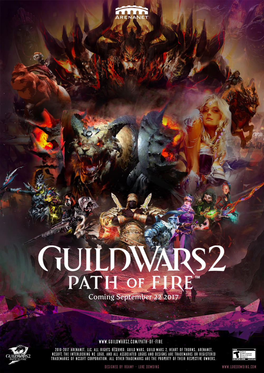 guild wars 2 path of fire movie poster
