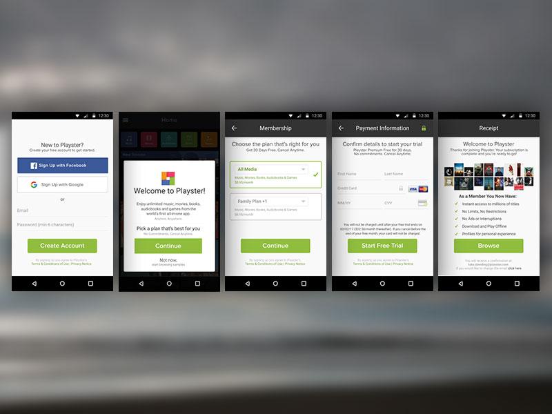 app signup onboarding ux ui design